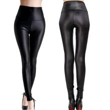 Sexy High Waist Stretch Leather Fashion Leggings XS S M L XL XXL XXXL
