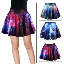 3D Galaxy Mini Galaxy Casual Skirt Summer Short