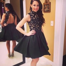 Sexy Mini Dress Lace Backless Ball Clubwear