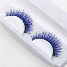 1 Pair blue Exaggeration fashion False Eyelashes