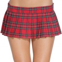 Plus Size Sexy Mini Short Skirt Red Schoolgirl