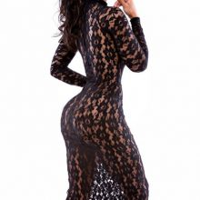 Long Sleeve Night Club Dress Hollow Out
