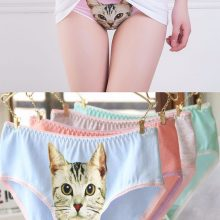 Fashion 3D printing Sexy Underwear Lingerie Cat Panties
