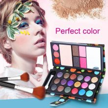 18 Colour Eye Shadows Pressed Powder 3 Lip frozen 2 blush 2 Eyebrow Professional Makeup Kit