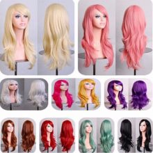 Long Wavy 12colors Synthetic Hair Wig