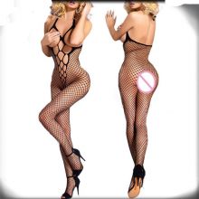 Hot Sexy Black Open Crotch Tights Fishnet Lingerie
