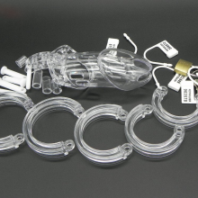 5 Size Penis Ring Chastity Device With Virginity Lock Cock Lock