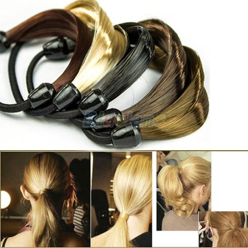 Korean Ponytail Wig Hair Holders Twist Rubber Headwear Band