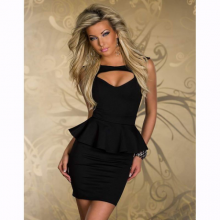 Mini Club Party Dress 4 Color Plus Size M L XL