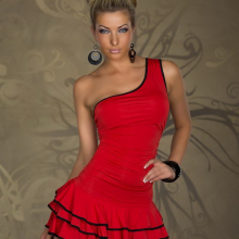 Plus Size Sexy One Shoulder Elegant Club Party Mini Dress