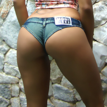 Sexy High Cut Denim Booty Super Mini Short Shorts