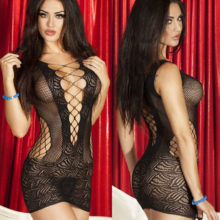 Sexy Lingerie Bodystocking Mesh Hollow Out Baby Doll See-through