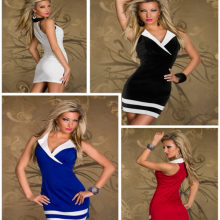 Sexy Elegant Sailor Collar Party Costume Erotic Mini Dress