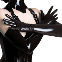 Black Pink Faux Leather Latex Gothic Fetish
