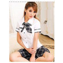 Lady Japan high school girl dress uniform