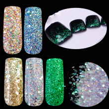 Holographic Glitter Powder Mix Green Purple Champagne