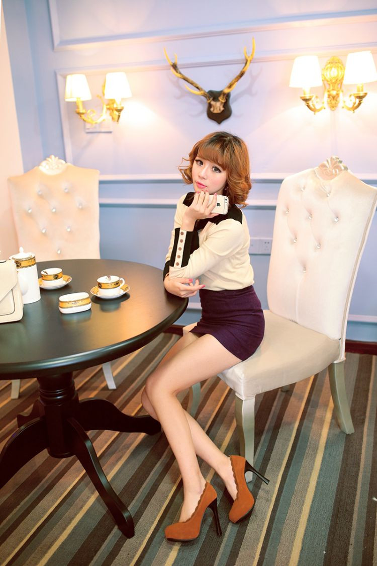 New Fashion Round Toe Platform High Heels Women Shoes