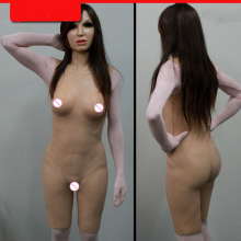 Realistic silicone body hips breast vagina female cover for crossdressers