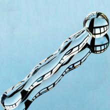 Crystal Glass Anal butt plug fake penis dildo for Crossdressers & Shemale