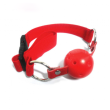 Red Nylon Breathable Open Mouth Gag Ball