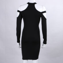 Sexy Long Sleeve Cotton Mini Bandage Crossdresser Dress