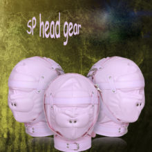 Pink Leather Band Adult Sex Mask