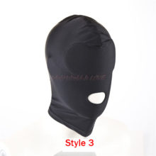 Black Sex Mask Open Mouth Bondage