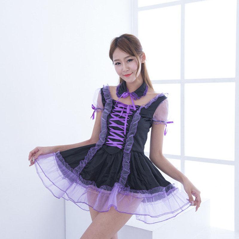 Sexy Purple Maid Sissy Costume - Best Crossdress  Tgirl Store-4553