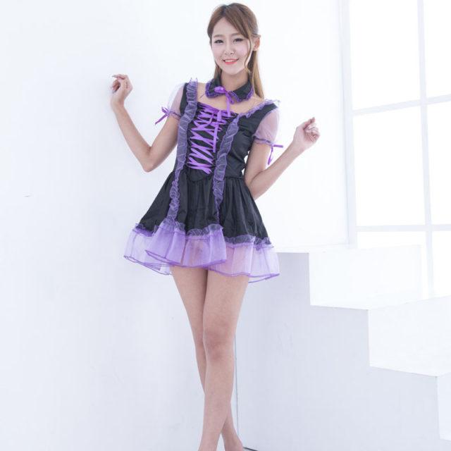 Sexy Purple Maid Sissy Costume - Best Crossdress  Tgirl Store-9722