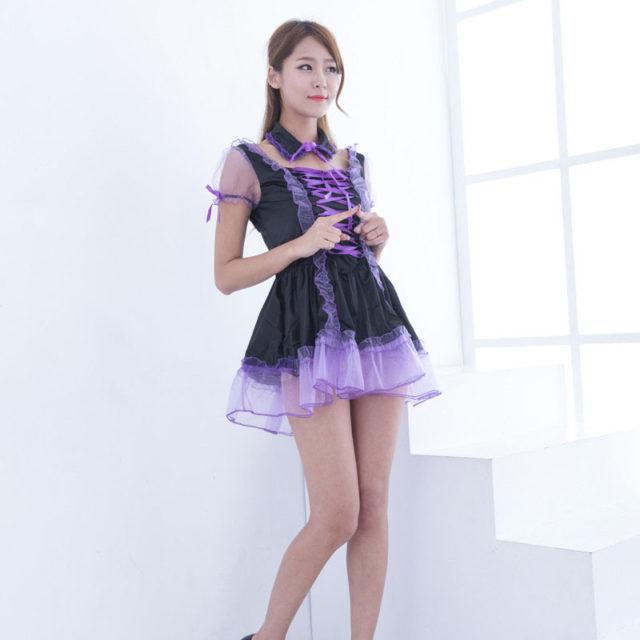 Sexy Purple Maid Sissy Costume - Best Crossdress  Tgirl Store-6445