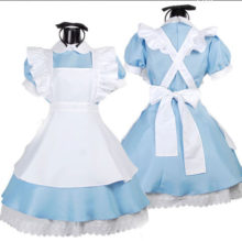 Blue Maid Costume Outfit