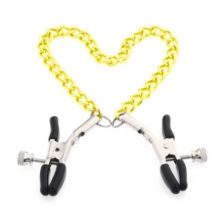 Gold Chain Fetish Nipple Clamps
