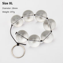 1PC Glass Anal Beads 4 Sizes Crystal Balls Butt Plug