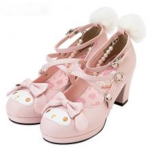 Cute Lolita Rabbit Cross Strap Shoes