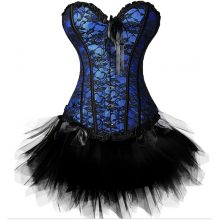 sexy burlesque overbust corset bustier top mini tutu skirt