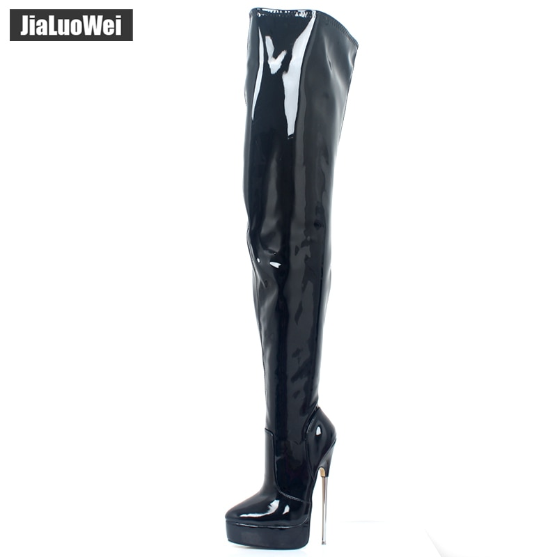 2018 Women Spring Over-The-Knee Boot 18cm Thin High Heel Sexy Fetish Ladies Zip Fashion Thigh Long Nightclub Pole Dancing Boots