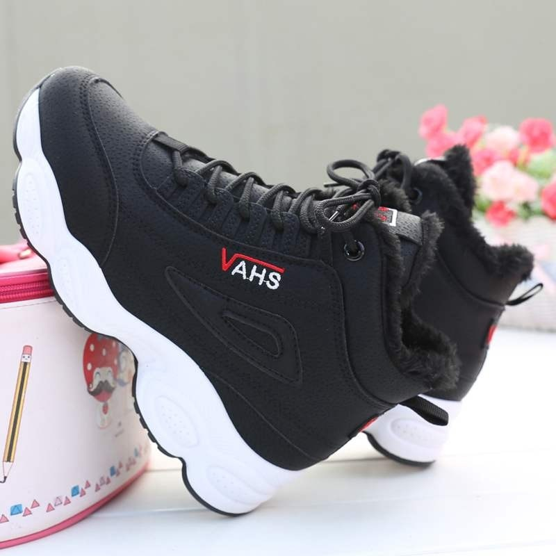 Women Boots Female Winter Shoes Woman Warm Snow Boots Fashion Thick bottom Women Ankle Boots Black Pink White Boots size 34-39