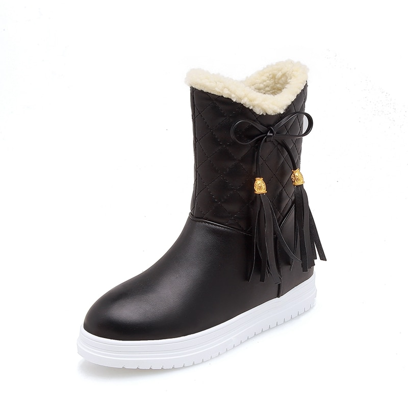 ENMAYLA New Winter Fashion  Boots Women Slip-on  Snow Boots White Black Pink  Ankle Boots for Women Size34-39 LY098