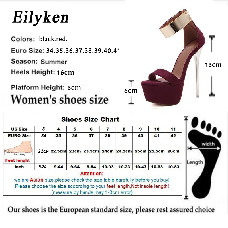 Eilyken 2019 Women Sandals 16cm Ultra high heels Summer Platform Pumps Party Club shoes Woman Sequined Gladiator Sandals