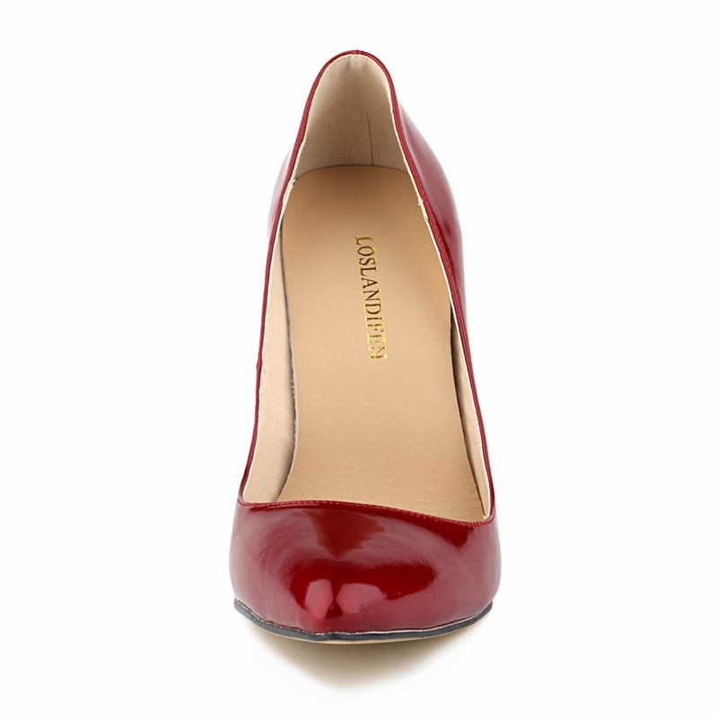 LOSLANDIFEN Pumps Sexy Pointed Toe High Heels Women Pumps Shoes New Spring Brand Design Wedding Shoes Pumps EU SIZE 35-42