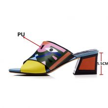 Sexy High Heels Pumps Prints Wedding Shoes Comfort Pu Leather Sandals