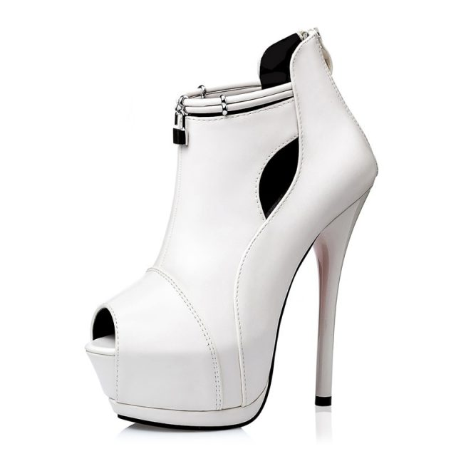 Stilettos Open Toe Sexy Pumps Women Shoes 2019 Spring Summer Platform Shoes Women High Heel Prom Party Shoe Ladies 14cm