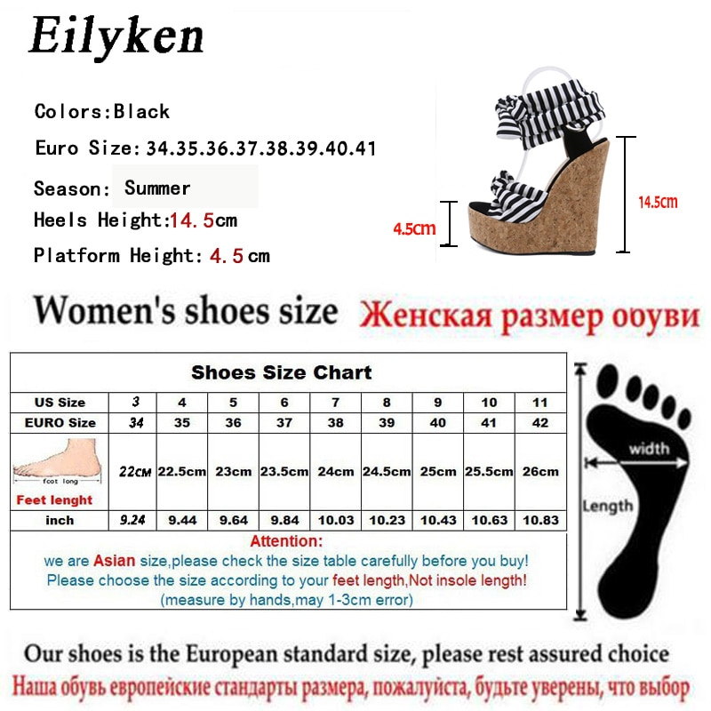 Eilyken 2019 New Designer Cotton Fabric Summer Roman Sandals High Quality Wedges High Heels Sexy Peep-Toe Platform Shoes Woman