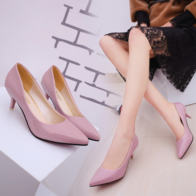 Women Shoes Nude Hollow Mouth Sexy Fashion Wedding Pumps Office High Heels Casual Shoes For Elegant Ladies Female