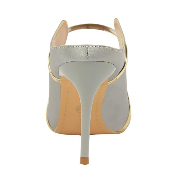 Plardin New Silk Thin High Heel Pumps Women High Heels Shallow Metal Color Platform Pumps wmoan Sexy Party Wedding Ladies Shoes