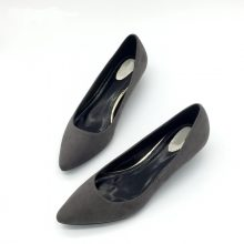 CEYANEAO  Sexy Women Low Heel Pumps Spring Autumn Flock Plain Shallow Slip On Female Pumps Shoes Ladies Casual Single Shoes