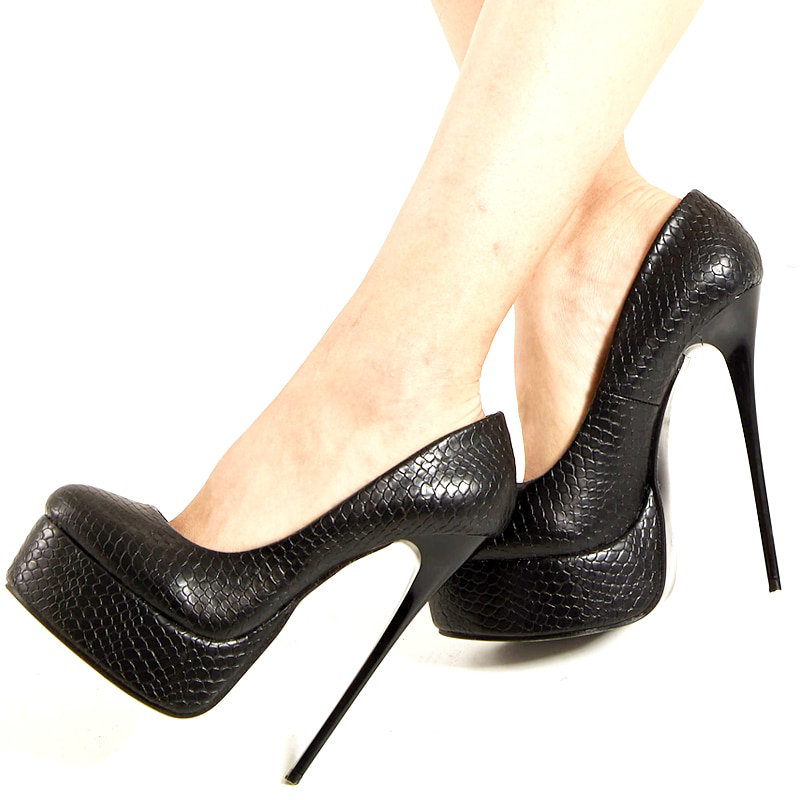 Classic Pointed Toe Sexy Stiletto Pump Extreme High Heels