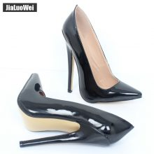 jialuowei Women 18cm Extreme High Heel Pumps Pointed Toe Sexy Fetish Stiletto Thin Heels Wedding Party Summer Unisex shoes