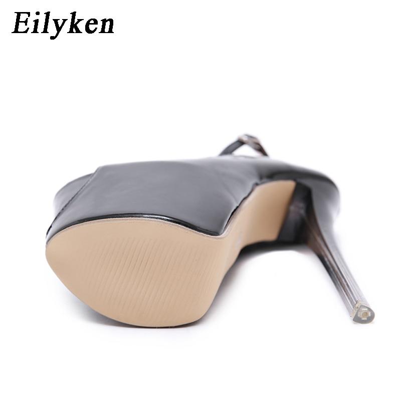 Eilyken Sexy Buckle Pumps Wedding Women Fetish Shoes Concise Woman Pumps Very High Heel Stripper Club Women Pumps 19 CM