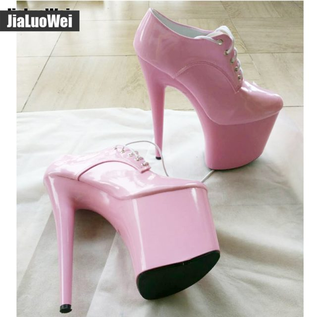 Womens Nightclubs Super High 20CM Spike Heels Platform Stiletto Shoes Lace-Up Sexual Fetish Dance Party pumps more colors